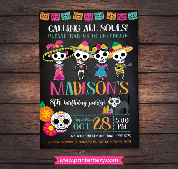 Day Of The Dead Invitation Mexican Birthday Party Day Of The Dead Party 2 Options Digital In 2021 Day Of The Dead Party Mexican Birthday Parties Mexican Birthday