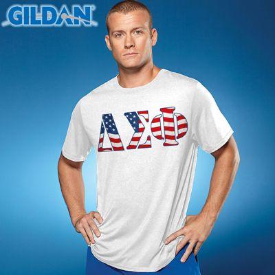 98ea86b8 Fraternity Printed Flag T-Shirt #Fraternity #Clothing #Greek #Shirts  #America