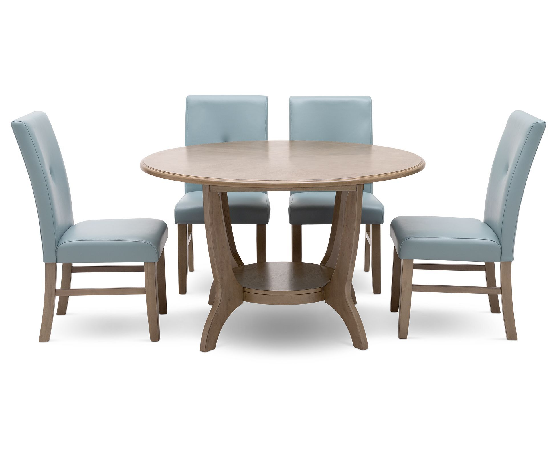 The Overbrook 5 Piece Sky Blue Dining Room Set In Sky Blue Adds