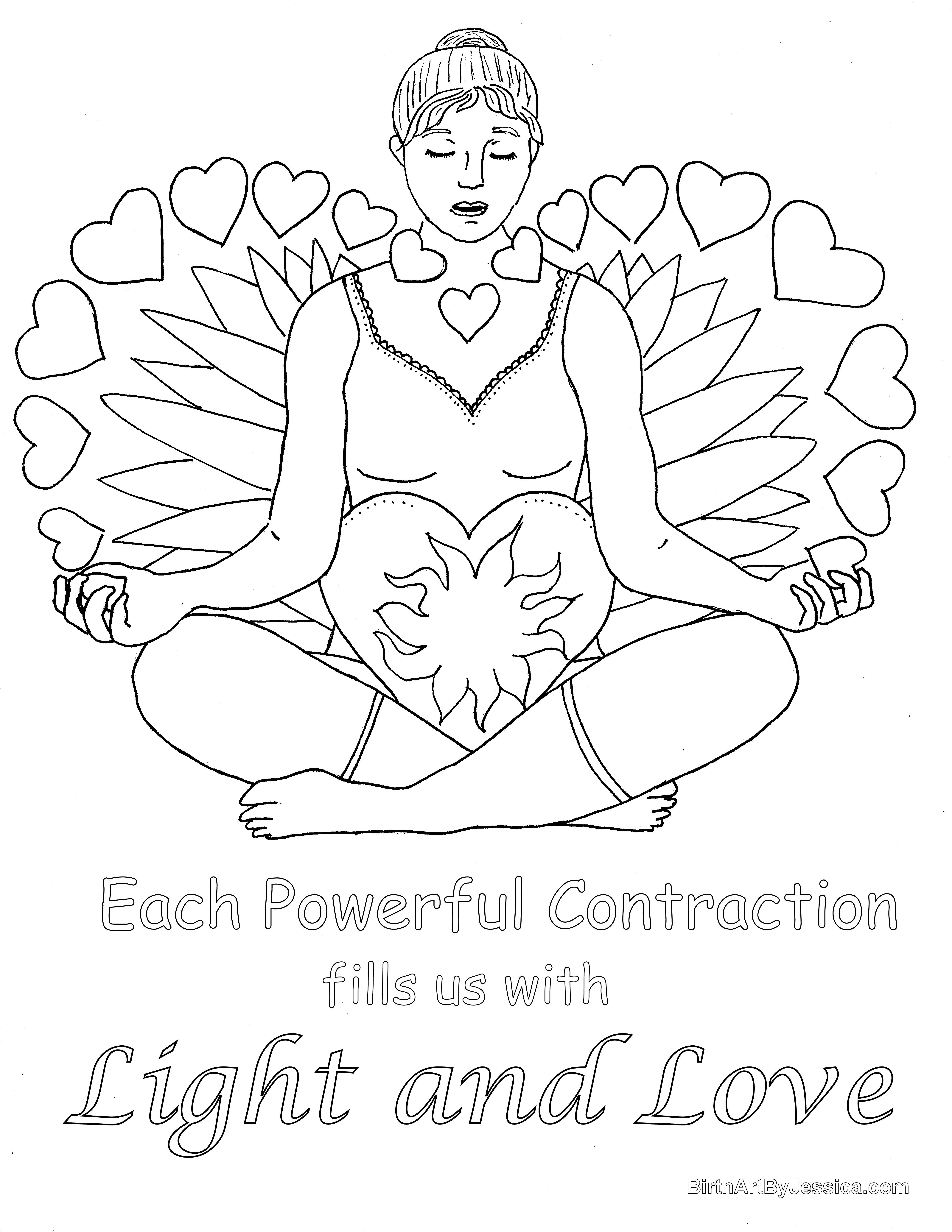 Coloring page x marks the spot - Birth Affirmation Coloring Page Free Printable