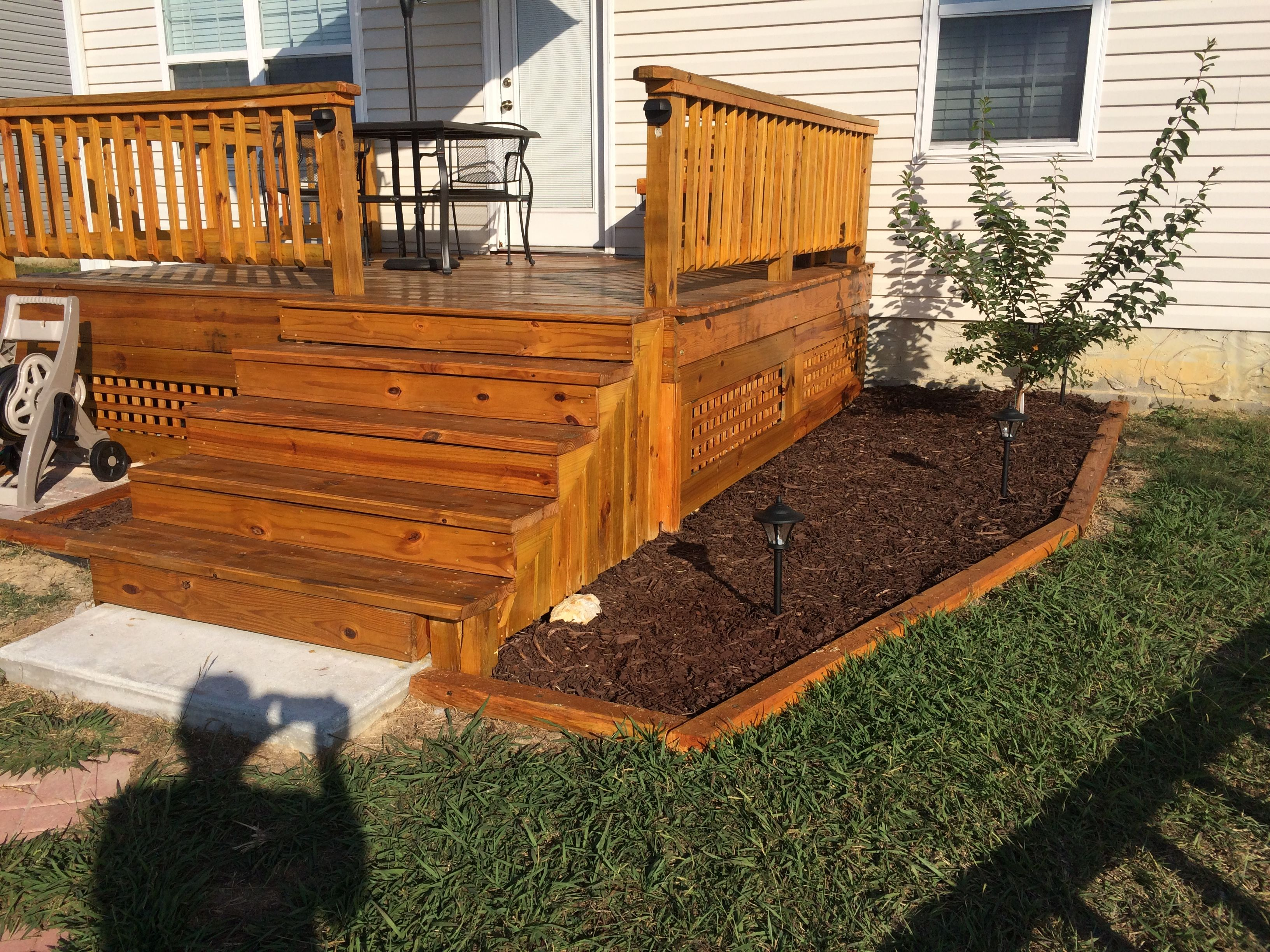 deck with cabot gold stain decks backyard building a on awesome deck patio outdoor lighting ideas that lighten up your space id=85705