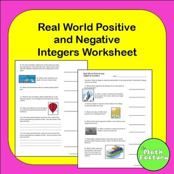 Positive and negative real world number representation educational positive and negative real world number representation this worksheet is designed to give students practice with deciding if situations should be ibookread ePUb