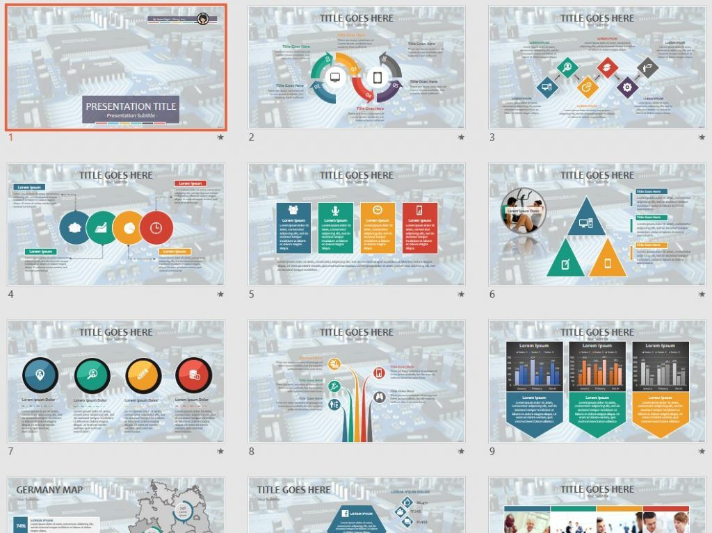 circuit board PPT - Free PowerPoint Templates by SageFox Free
