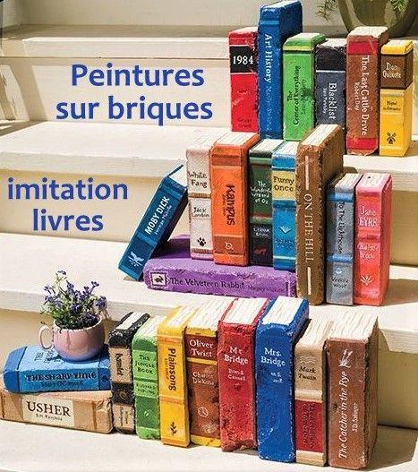 Faire une fausse bibliothèque avec des briques peintes | Briques peintes, Brique, Diy