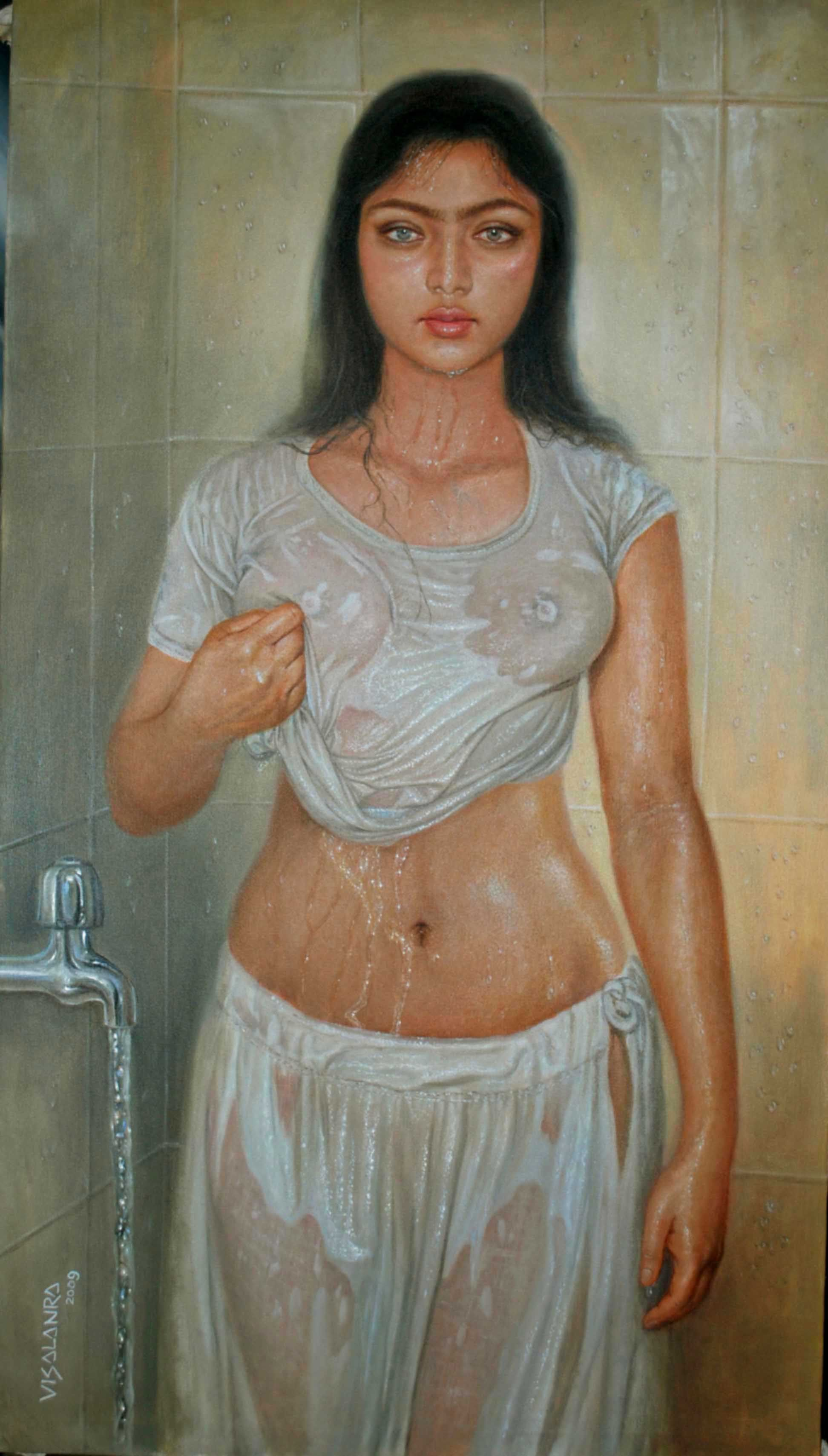 Nude bath indian-1504