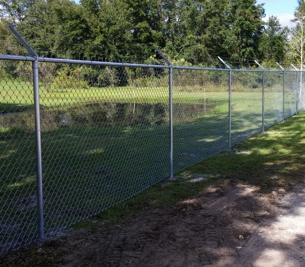 White Fence Company Installed This 6 Tall Chain Link Fence Topped