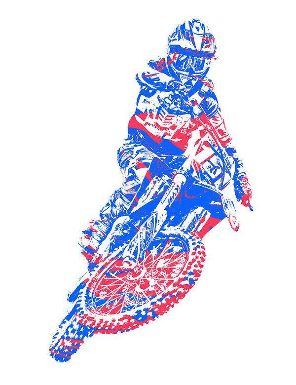 X Games Motocross Pixel Art 5 Art Print By Joe Hamilton Pixel Art Art Prints Art