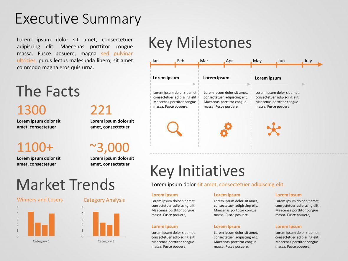 Use Executive Summary PowerPoint Template to showcase the
