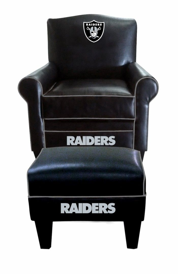 Oakland Raiders NFL Game Time Chair U0026 Ottoman/Footstool Furniture Set