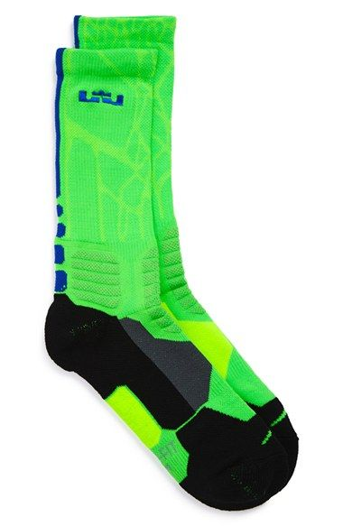 Boy's Nike 'LeBron - Hyper Elite' Cushioned Basketball Crew Socks