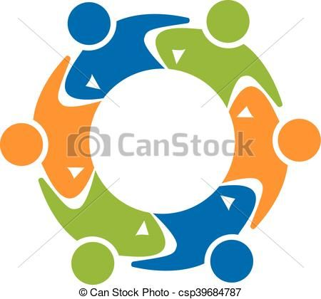 vector teamwork business logo stock illustration royalty free rh pinterest co uk Business Card Examples business cards clip art free