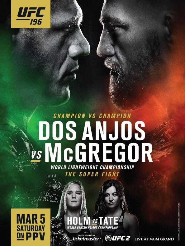Pin by oak on Posters UFC, UFC 196, Graphic design trends