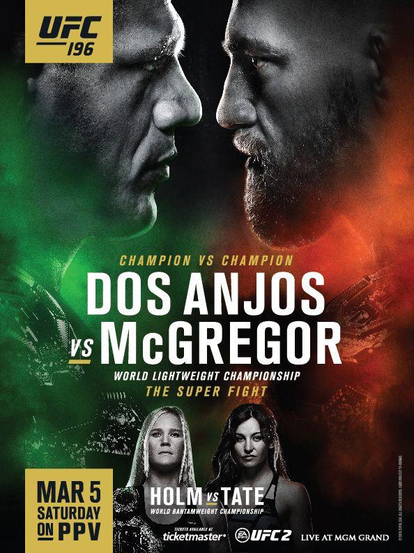 ufc-196-fight-poster-1jpg (594×792) Posters Pinterest Template