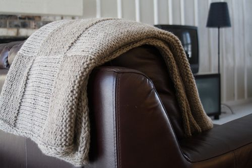 Hip To Be Square Knitted Lap Blanket Free Pattern