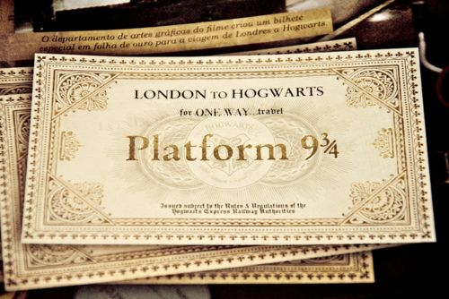 The ticket to have! #Hogwarts #HarryPotter