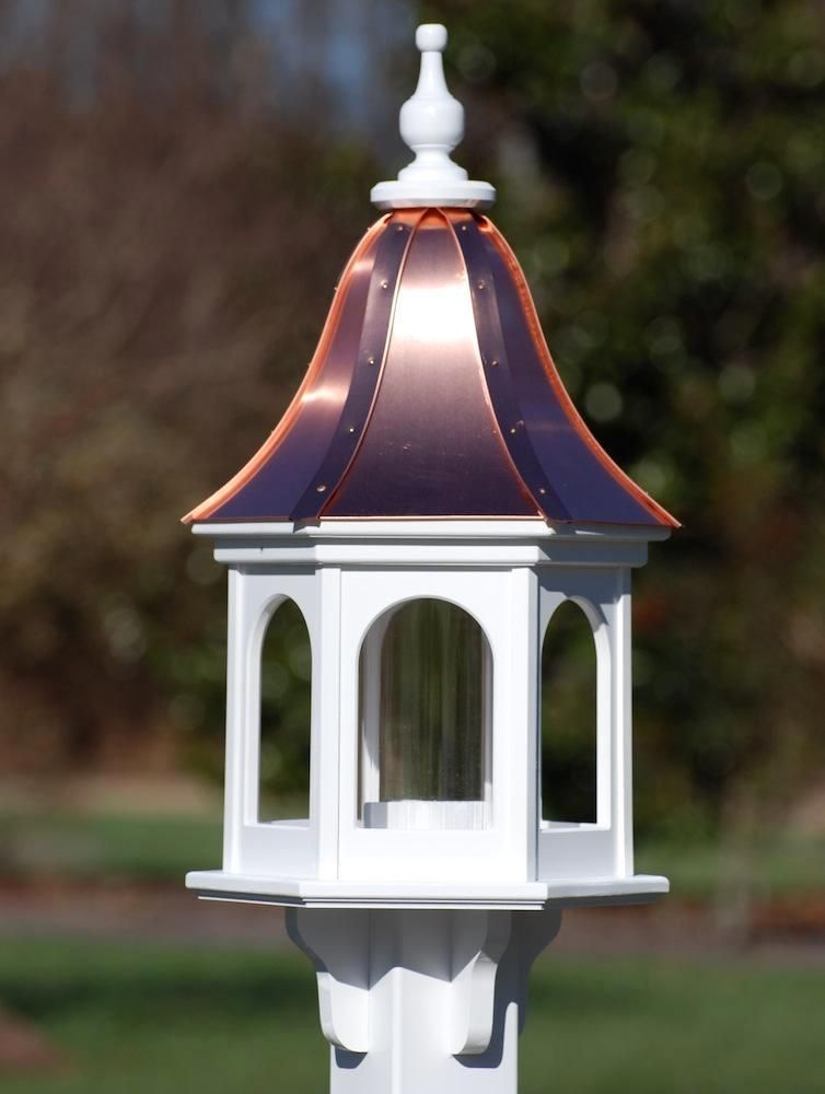 Copper Roof Bird FeederVinyl/PVC 28x12 Unique bird