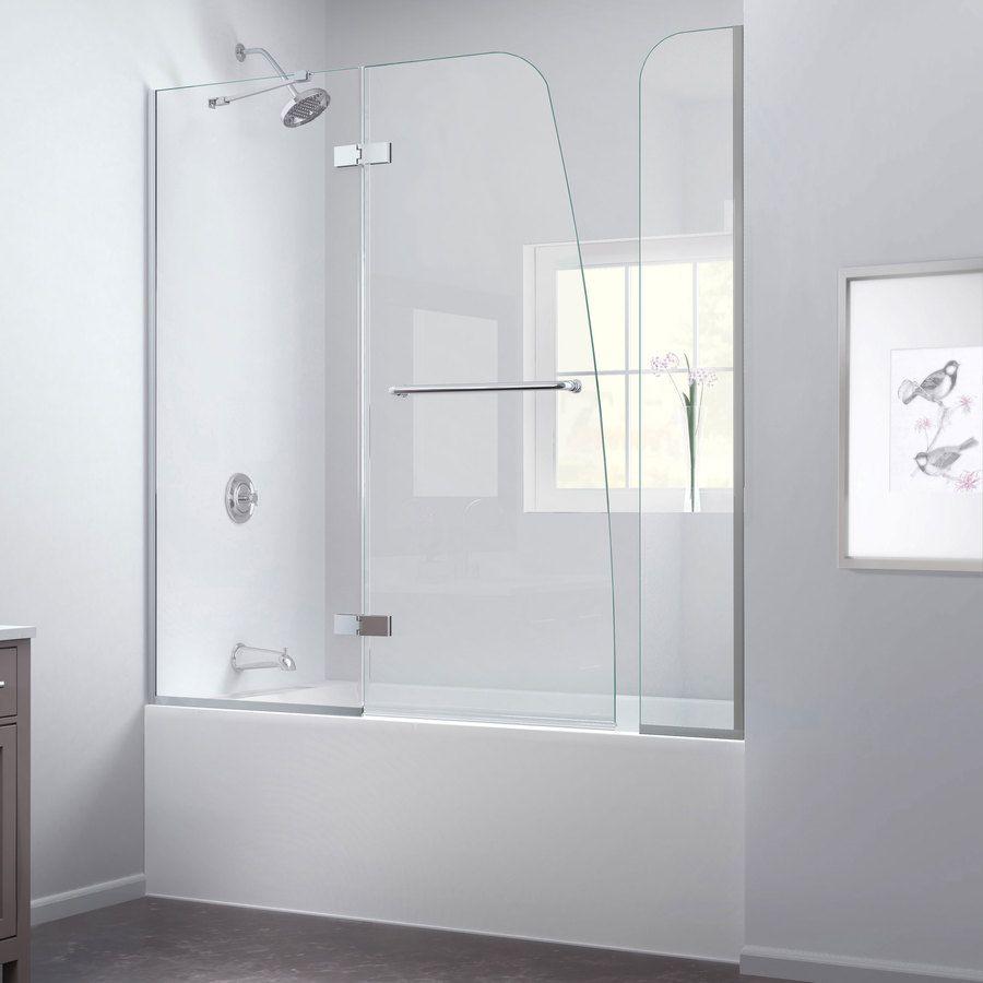 Shop DreamLine Aqua Ultra 60-in W x 58-in H Frameless Bathtub Door ...