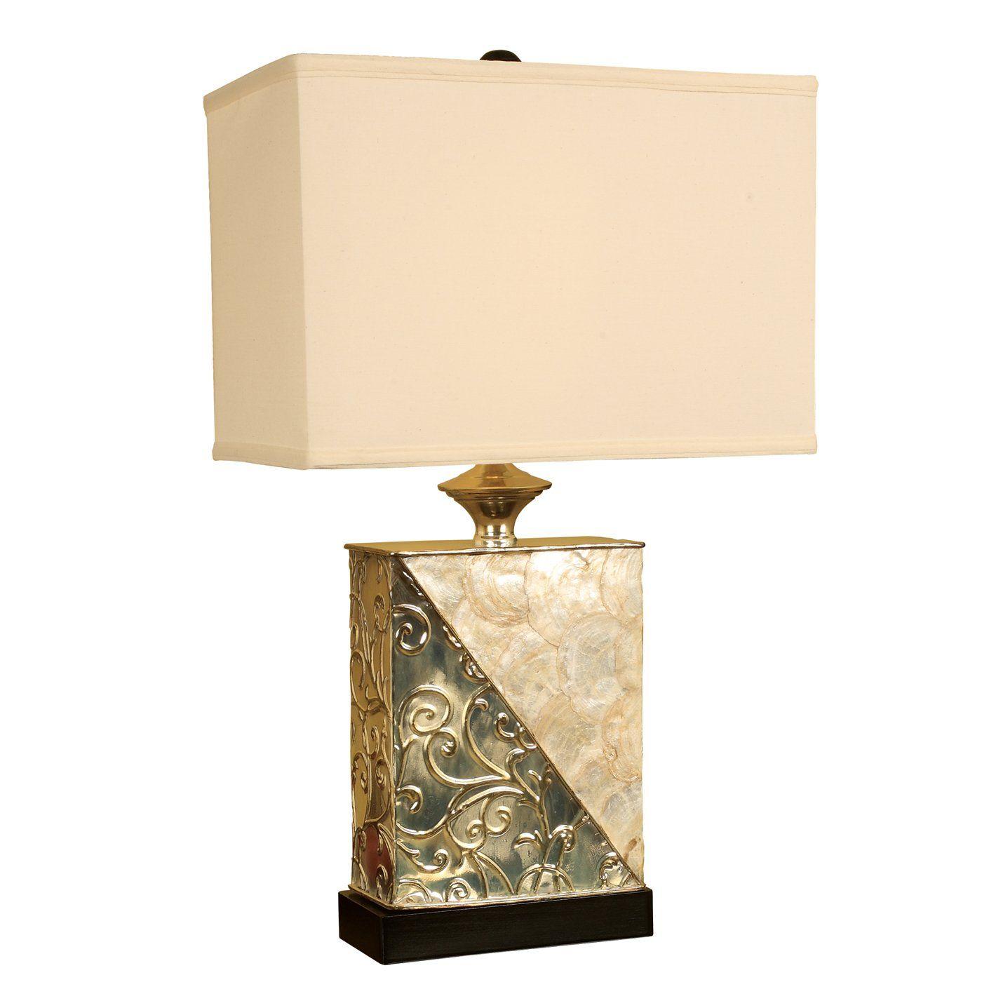 Mario Lamps 10t909 Rectangle Capiz Shell Table Lamp Lamp Table Lamp Novelty Lamp