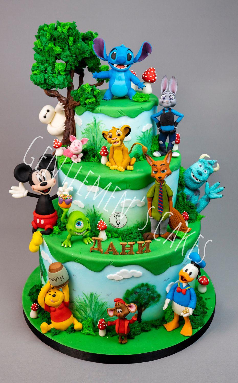 Strange Disney World Cake By Gentlemens Cakes Disney Birthday Cakes Funny Birthday Cards Online Barepcheapnameinfo