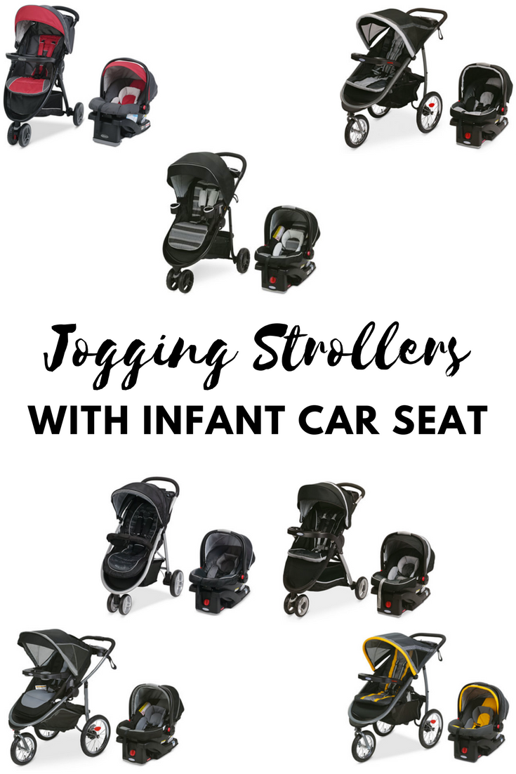 Variety of Graco baby jogging + infant car seat travel