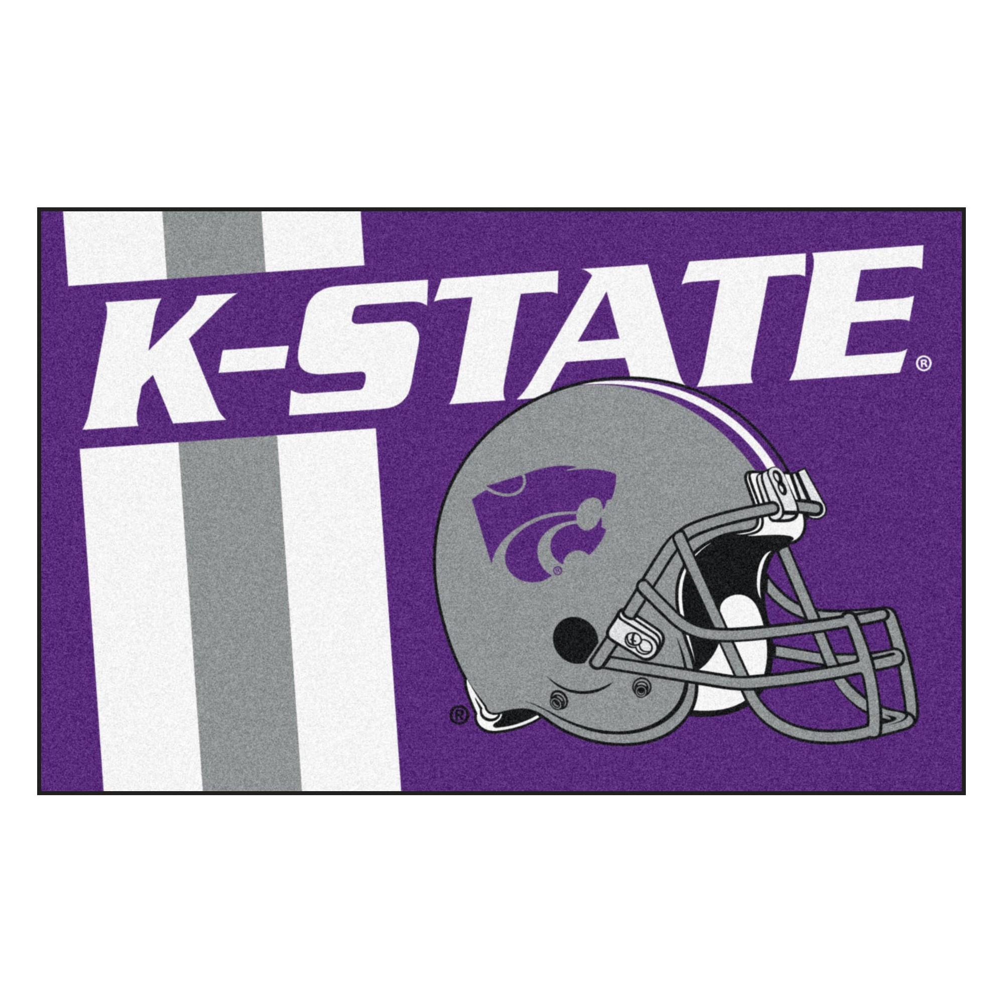 best sneakers 5cc2f 84c12 NCAA 19x30 Uniform Starter Rug Kansas State Wildcats