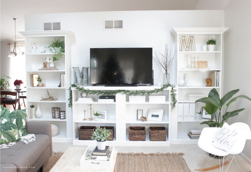 Our Ikea Hack DIY BuiltIn Bookcase Living room