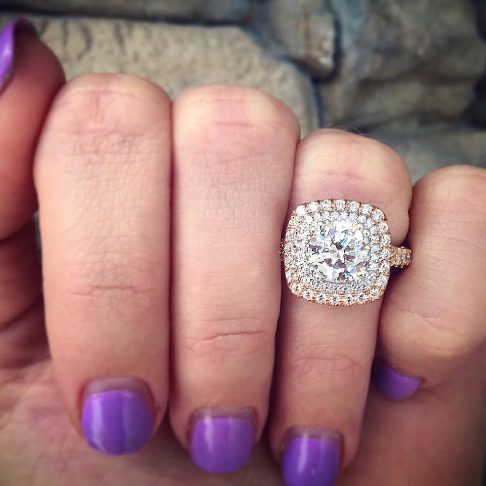Verragio Double Halo Engagement RIng | Engagement Rings | Pinterest ...