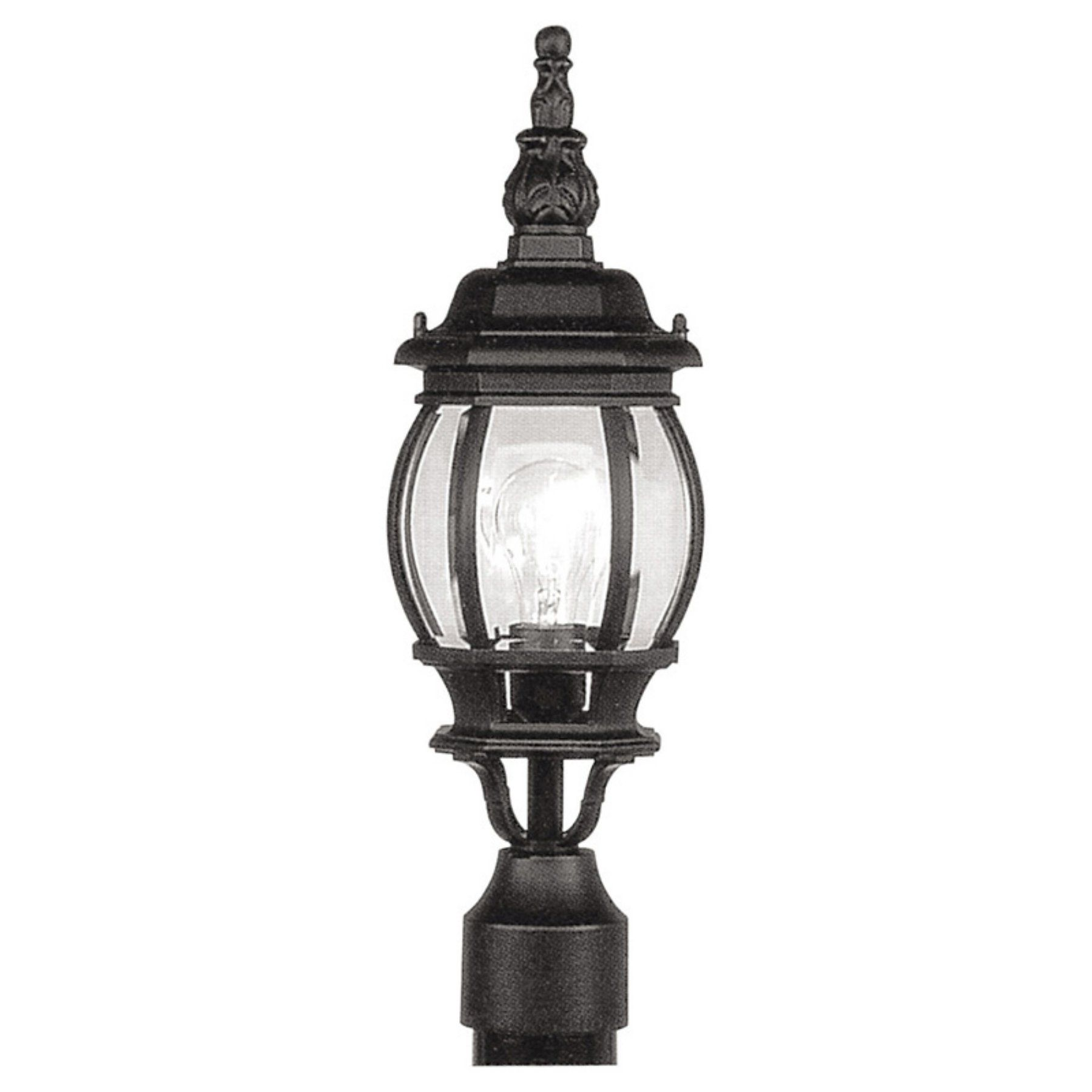 Livex Frontenac 7522 04 Outdoor Post Lantern  185H In Black