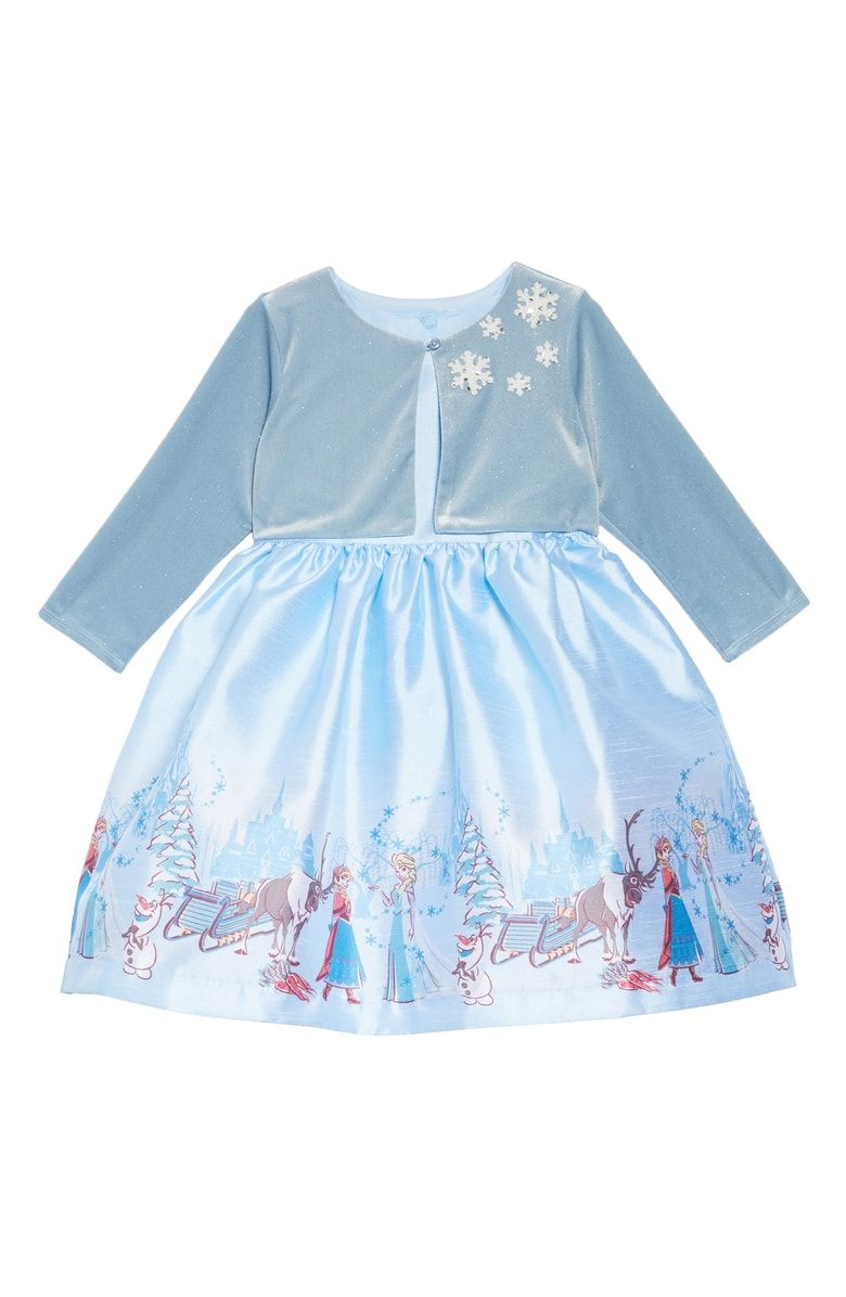 4a37d7541 Free shipping and returns on Pippa & Julie x Disney® Frozen Border Print  Dress & Jacket Set (Toddler Girls & Little Girls) at Nordstrom.com.