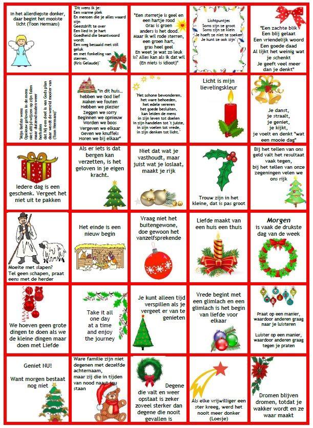 spreuken advent Adventskalender (kaartjes met spreuken en gedichten)   Creatief en  spreuken advent