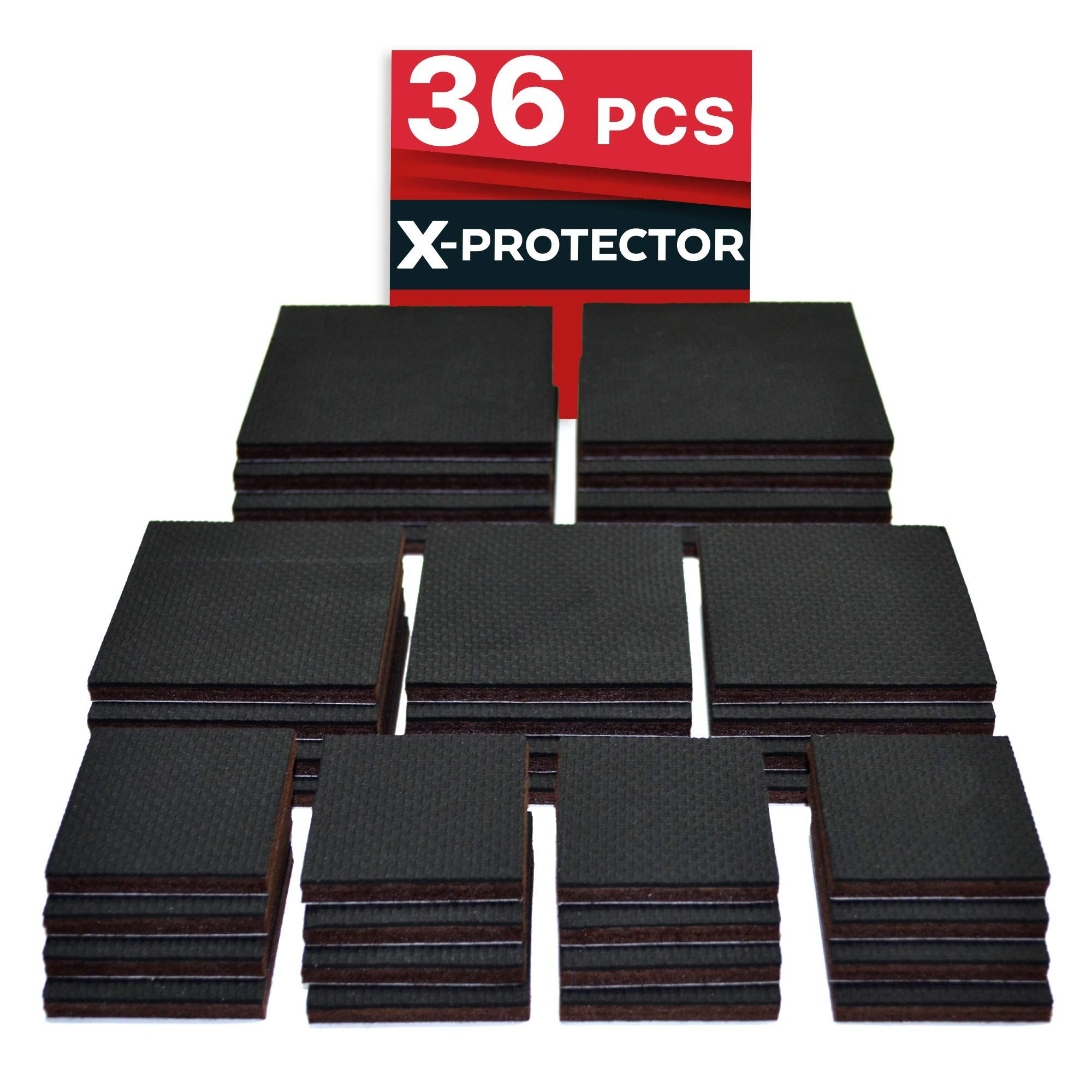 Non Slip Pads X Protector Great Pack 36 Pack 16 Pcs 2a 12 Pcs 3a 8 Pcs 4a Furniture Pads B Furniture Pads Furniture Grippers Rubber Furniture Pads
