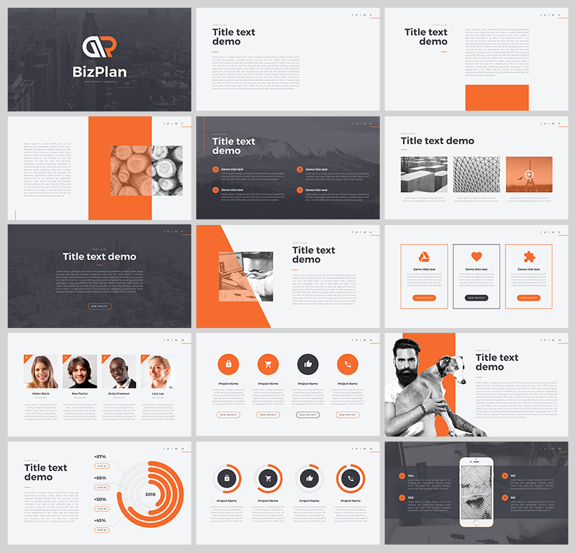 bizplan free powerpoint template download