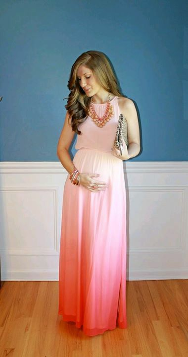 Like The Ombré Simple Chic Style Maternity Wear Fashion Wedding Dresses