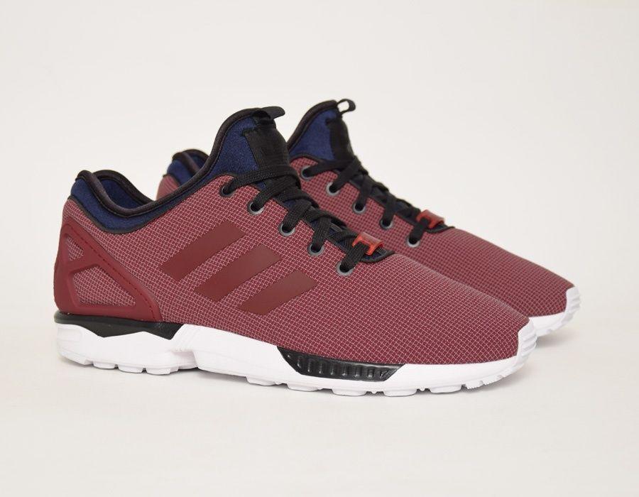 adidas zx flux burgundy