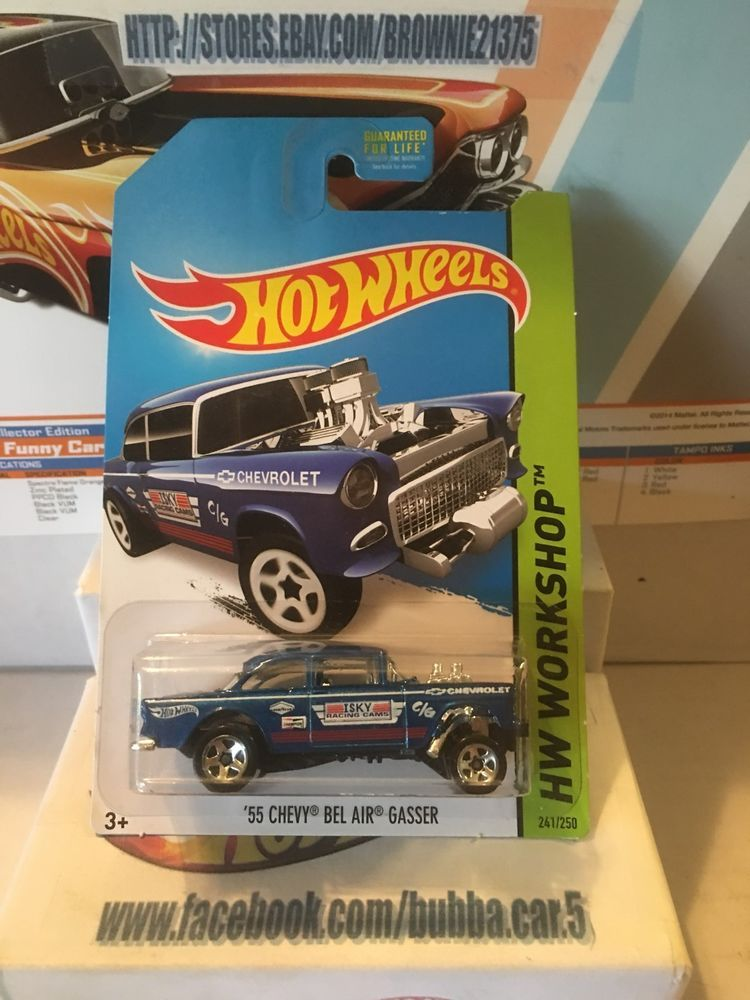 Hot Wheels Hw Workshop 55 Chevy Bel Air Gasser 2014 Hotwheels