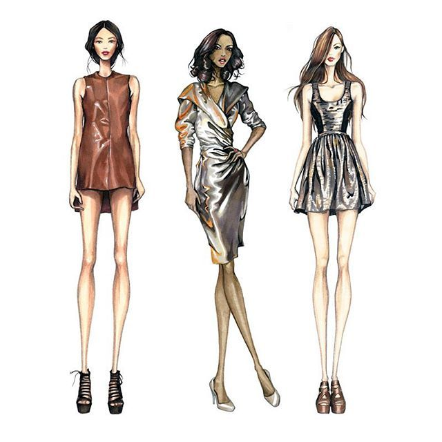 Learn The Difference Between Drawing Shine And Sheen Link In Bio Illustration Fashion Design Fashion Illustration Fashion Illustration Dresses