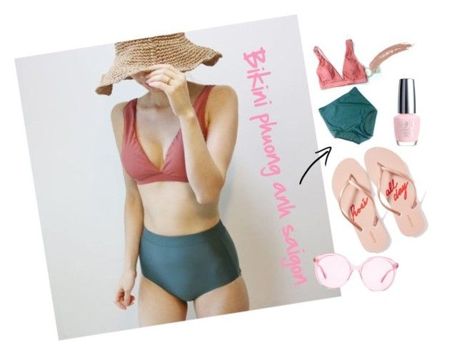 """""""Hai manh vo do"""" by pio-lala on Polyvore featuring Gucci, Old Navy, OPI and Topshop"""