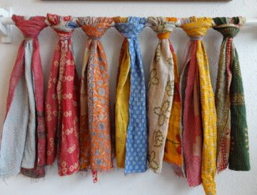 kantha scarves...in stock now at the grey colt