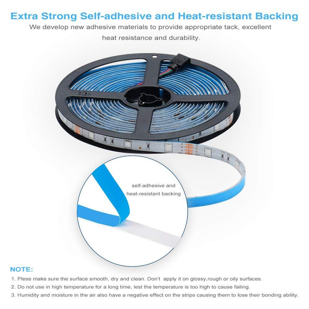 Daybetter led strip lights waterproof 328ft flexible tape