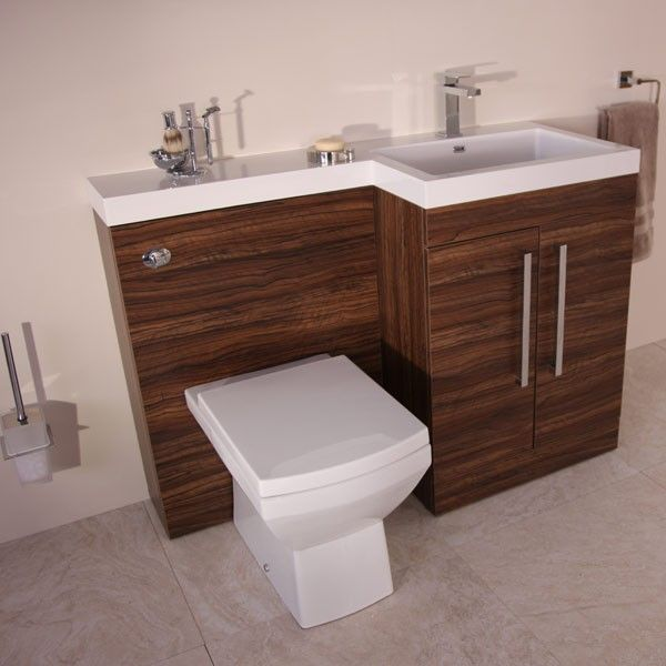 This Tabor Walnut Right Hand Vanity Unit Is An Excellent Edition To Any  Bathroom It Combines As A WC Basin And Storage And Can Therefore Be Used As  A Space ...