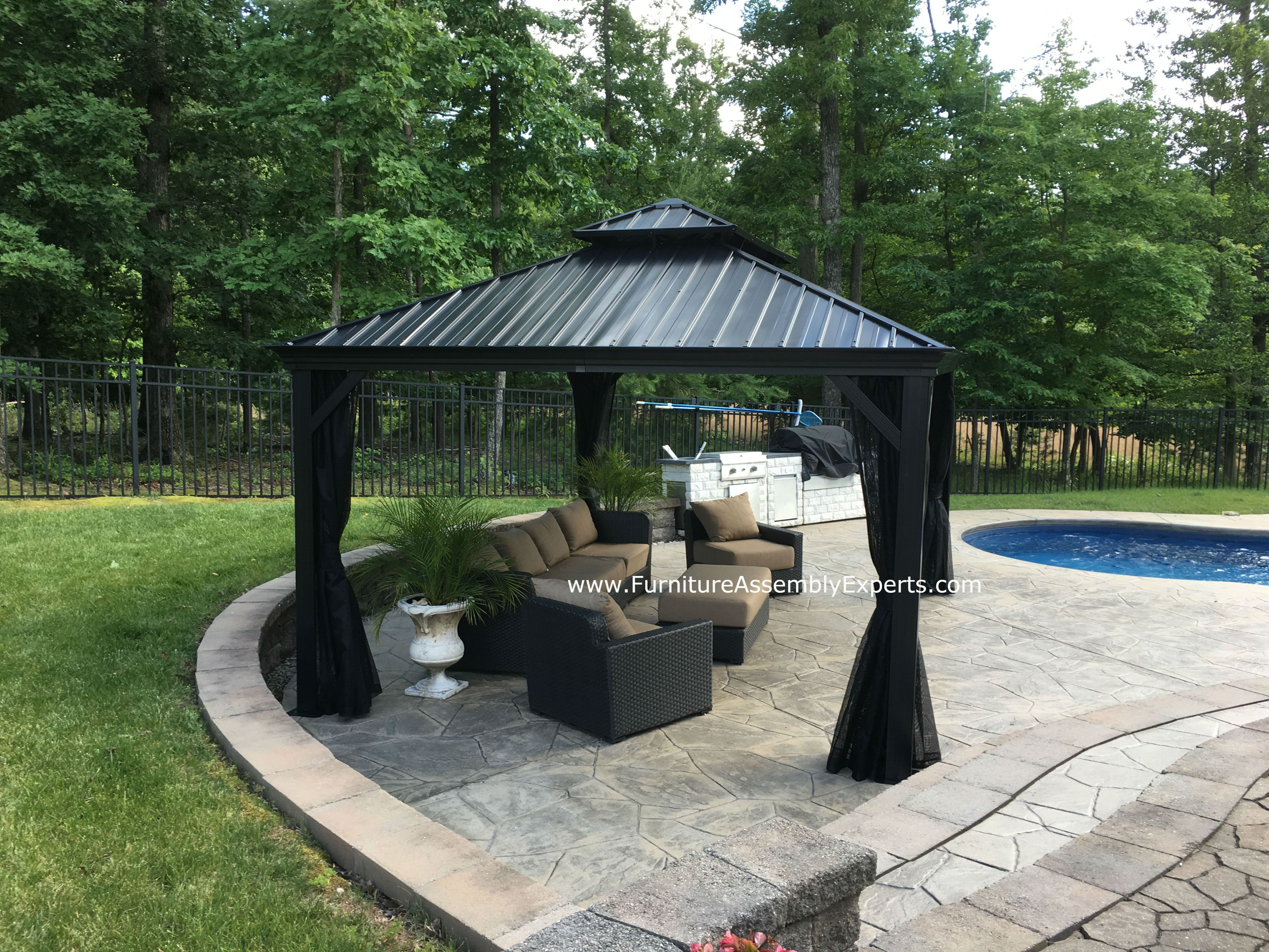 sojag gazebo from costco assembled for a customer at his home in woodbridge virginia by furniture assembly experts company