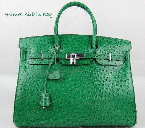 5ebd61ea71f1 Hermes  Birkin  green ostrich bag. Usually don t like Hermes