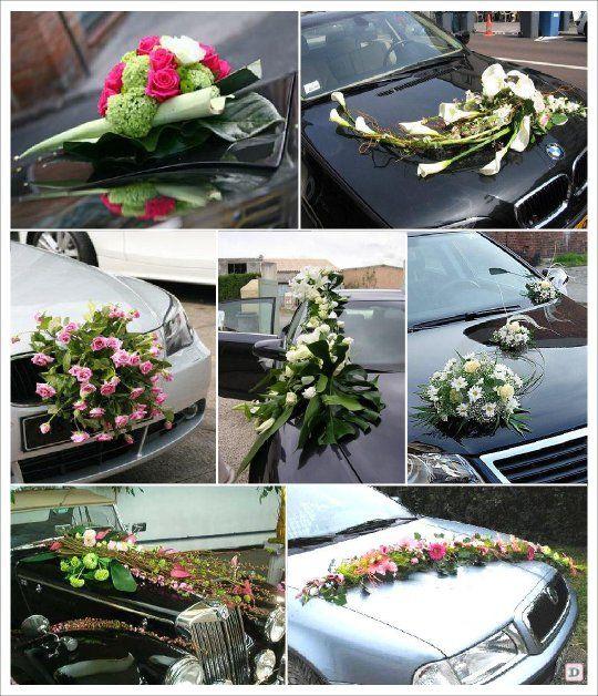 decoration voiture mariage composition florale endroits visiter pinterest d coration. Black Bedroom Furniture Sets. Home Design Ideas
