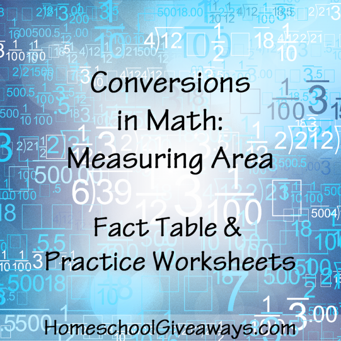 FREE Units of Area Conversion Table and Practice. Do you measure in ...