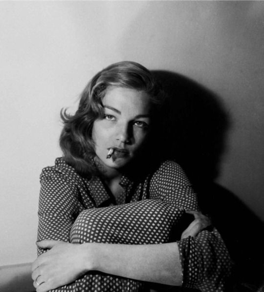 Simone Signoret by Serge Lido, 1950s