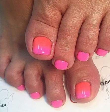 nails ombre coral summer 55 ideas nails  coral ombre