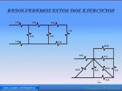 Como Resolver Circuitos Series Y Paralelo De Resistencias Youtube Circuitos Proyectos Electronicos Esquemas Electricos