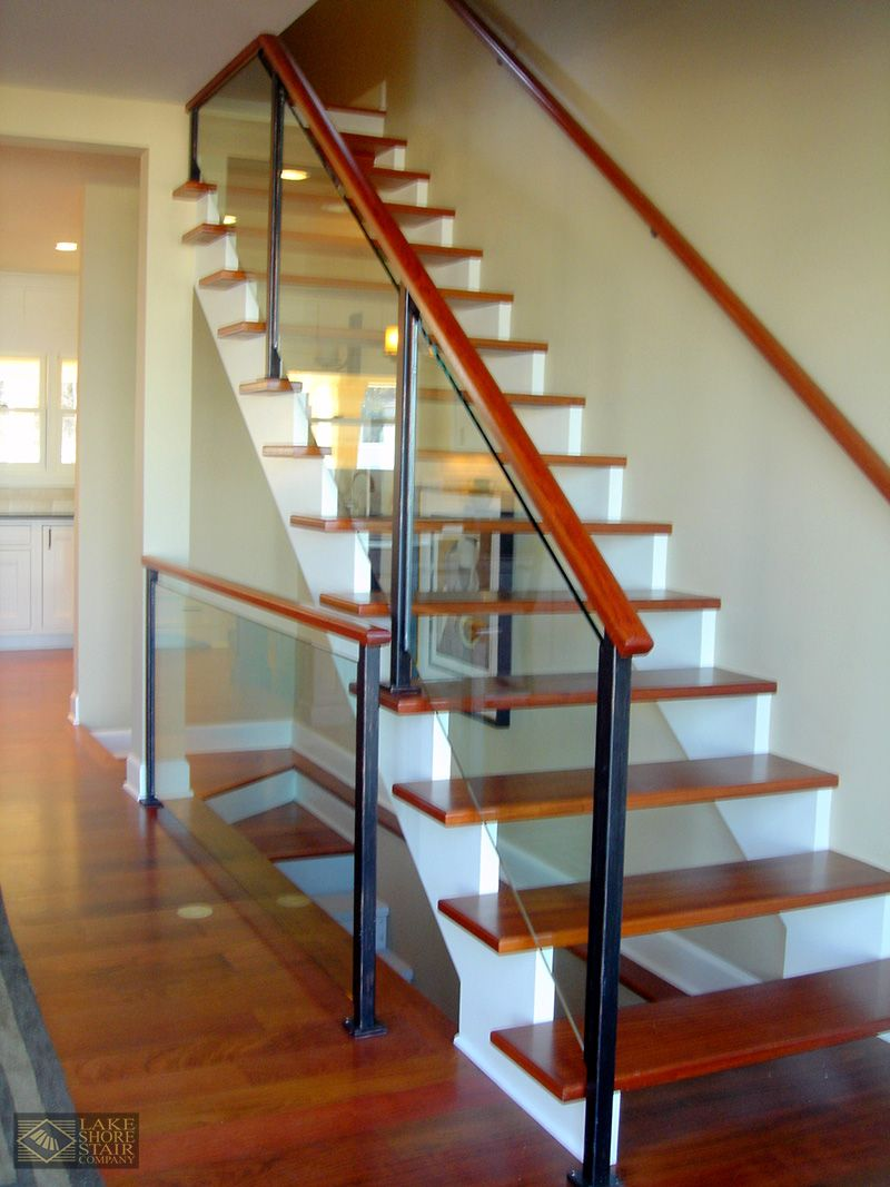 Best Full Glass Balustrade With A Unique Open Riser And White 400 x 300
