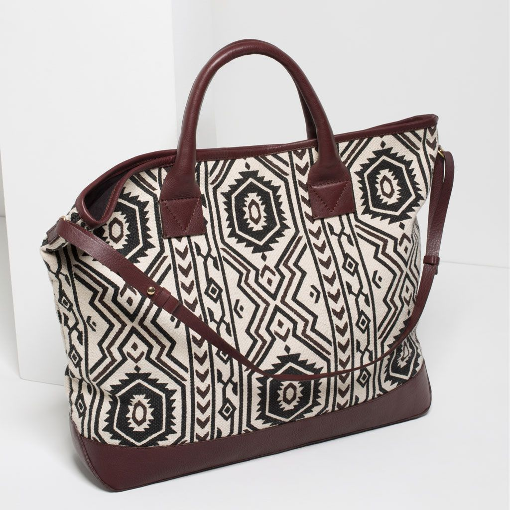 PRINTED TOTE-View all-BAGS-WOMAN | ZARA Canada