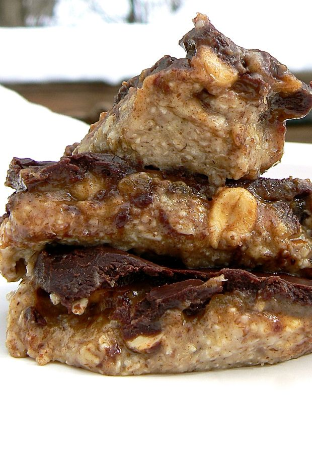 Home made snickers vegan-raw-gluten free